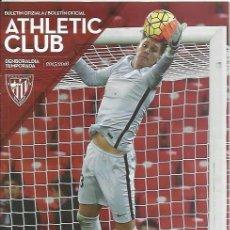 Coleccionismo deportivo: PROGRAMA BILBAO ATHLETIC-ALBACETE 15-16 LIGA. Lote 56176260