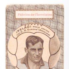 Coleccionismo deportivo: CARTA DE NAIPE - PELAO MEDIO CENTRO DEL C.D.EUROPA. Lote 56493567