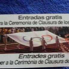 Coleccionismo deportivo: ENTRADA OLIMPIADAS DE BARCELONA 1992. Lote 56813385