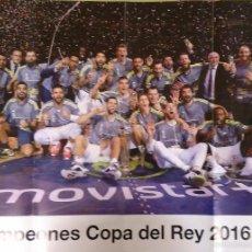 Coleccionismo deportivo: PÓSTER OFICIAL REAL MADRID CAMPEÓN COPA DEL REY DE BALONCESTO 2016. Lote 56931010