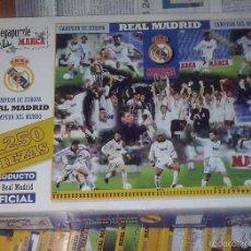Coleccionismo deportivo: REAL MADRID PUZZLE MARCA CAMPEON FÚTBOL EUROCOPA 7 OREJONA COMPLETO 25 LAMINA ENTREGA ~ 84X75 CMS. . Lote 57189563