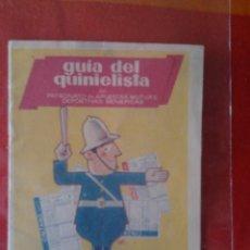 Coleccionismo deportivo: PUBLICIDAD- GUIA DEL QUINIELISTA 1958-1959. VERMOUTH CINZANO. Lote 57201636