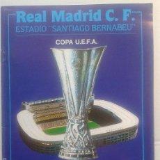 Coleccionismo deportivo: PROGRAMA OFICIAL UEFA 1991 ** OCTAVOS DE FINAL** 28 PAGINAS ** NEUCHATEL XAMAX F.C- REAL MADRID **. Lote 57268077