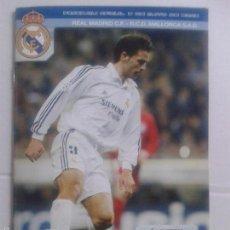Coleccionismo deportivo: PROGRAMA OFICIAL 3 DE MAYO DE 2003 **REAL MADRID C.F.-R.C.D. MALLORCA S.A.D. **. Lote 57280825