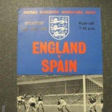 Coleccionismo deportivo: ENGLAND - SPAIN - PROGRAMA 24 MAYO 1967 - VER FOTOS - (V-6050). Lote 57305495