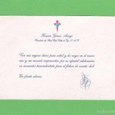 Coleccionismo deportivo: FELICITACION AÑO NUEVO HORACIO GOMEZ ARAUJO. PRESIDENTE REAL CLUB CELTA DE VIGO (1995-2006). Lote 57654917