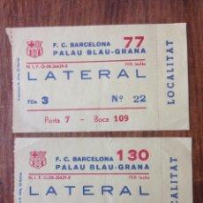 Coleccionismo deportivo: R706 ENTRADA TICKET BALONCESTO ACB BARCELONA PALAU AÑOS 90. Lote 57829535