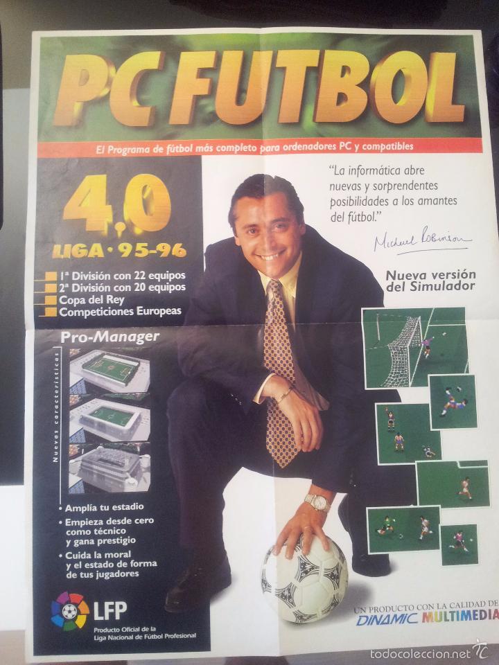 POSTER PC-FUTBOL 4.0 MICHAEL ROBINSON (Coleccionismo Deportivo - Documentos de Deportes - Otros)