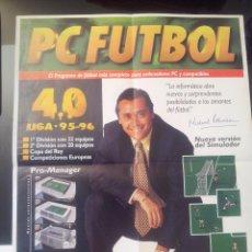 Coleccionismo deportivo: POSTER PC-FUTBOL 4.0 MICHAEL ROBINSON. Lote 57981747