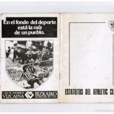 Coleccionismo deportivo: ESTATUTOS DEL ATHLETIC CLUB - BILBAO 1979. Lote 58361129
