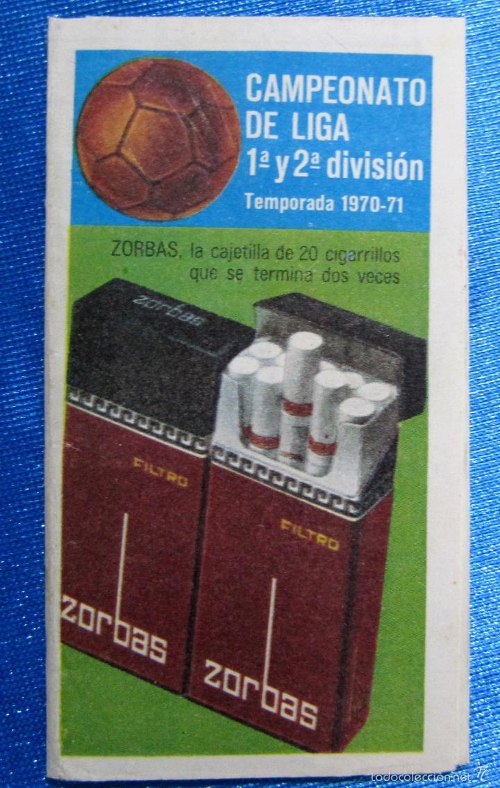CALENDARIO Y RESULTADOS CAMPEONATO DE LIGA 1ª Y 2ª DIVISIÓN. TEMPORADA 1970 - 71. REGALO DE ZORBA... (Coleccionismo Deportivo - Documentos de Deportes - Otros)