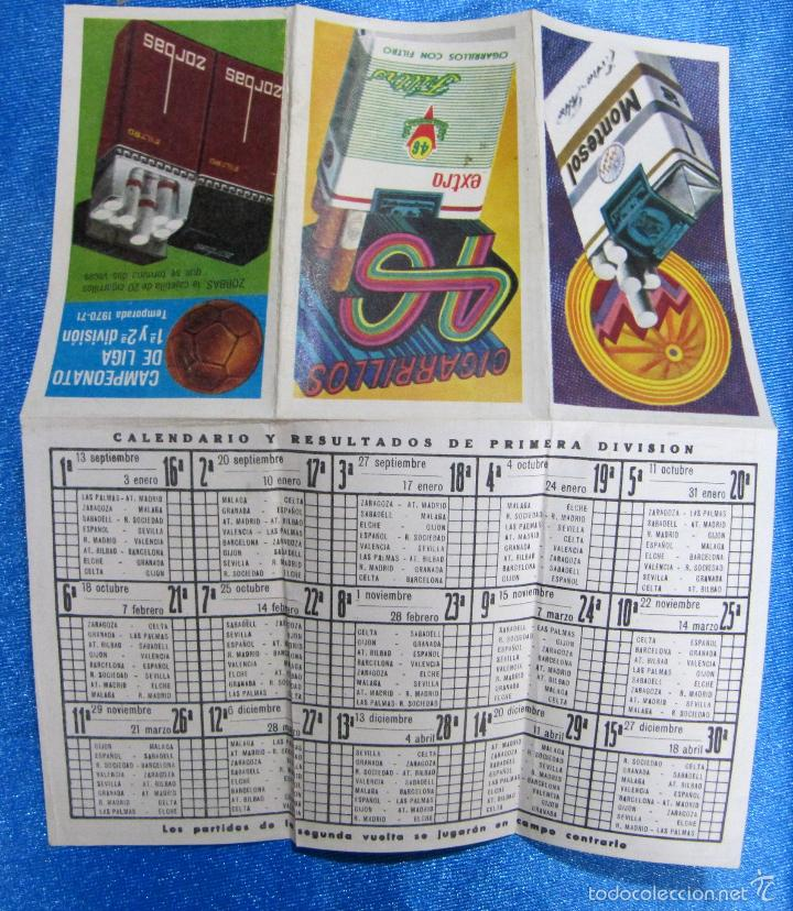Coleccionismo deportivo: CALENDARIO Y RESULTADOS CAMPEONATO DE LIGA 1ª Y 2ª DIVISIÓN. TEMPORADA 1970 - 71. REGALO DE ZORBA... - Foto 4 - 58579611