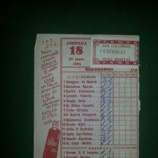 Coleccionismo deportivo: RESGUARDO QUINIELA 26 ENERO 1964. Lote 59665908
