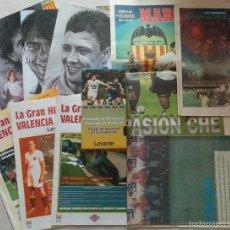 Coleccionismo deportivo: LOTE COLECCIÓN VARIOS ARTÍCULOS VALENCIA C.F. AÑOS 90. Lote 50784226