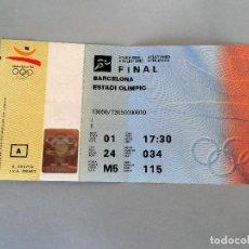 Coleccionismo deportivo: ENTRADA OLIMPIADAS BARCELONA 92 ESTADIO OLIMPICO FINAL ATLETISMO. AUTENTICA #PV-R. Lote 61762368