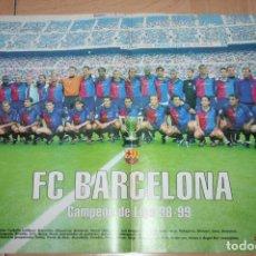 Coleccionismo deportivo: POSTER DON BALÓN BARCELONA CAMPEÓN DE LIGA 98-99. Lote 62446284
