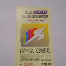 Coleccionismo deportivo: ENTRADA SARRERA WORLD CROSS COUNTRY CHAMPIONSHIP AMOREBIETA ETXANO. 1993. TDKP8. Lote 62682148