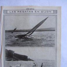 Coleccionismo deportivo: RECORTE MUNDO GRAFICO 06-10-1915 REGATAS EN GIJON. ***020. Lote 64472151