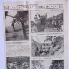 Coleccionismo deportivo: RECORTE MUNDO GRAFICO 24-11-1915 CACERIA EN SIERRA MORENA ***049. Lote 64604947