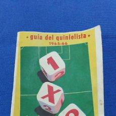 Coleccionismo deportivo: GUIA DEL QUINIELISTA 1965 1966. APUESTAS MUTUAS DEPORTIVAS BENEFICAS. . Lote 65825338