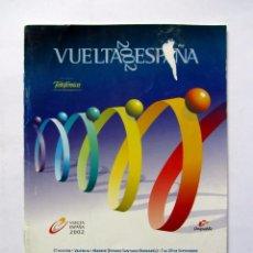 Coleccionismo deportivo: VUELTA CICLISTA A ESPAÑA 2002 REGLAMENTO Y PREMIOS UNIPUBLIC. Lote 66857690
