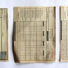 Coleccionismo deportivo: LOTE DE QUINIELAS: JORNADA 9 Y 12 DE 1974 + 1 DEL PATRONATO DE APUESTAS SIN USO. Lote 67326509