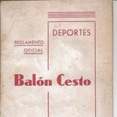 Coleccionismo deportivo: REGLAMENTO OFICIAL BALONCESTO 1940 BASKETBALL ARTICULOS ORO DEPORTE IMPRENTA VALENCIA SPORTS (50). Lote 67759833