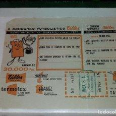 Coleccionismo deportivo: II CONCURSO FUTBOL TABLEX - COPA GENERALISIMO 1963. Lote 68697397