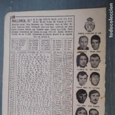 Coleccionismo deportivo: FUTBOL INFORMACION DEPORTIVA - CLUB EQUIPO PLANTILLA LIGA JUGADORES - MALLORCA. Lote 69067113