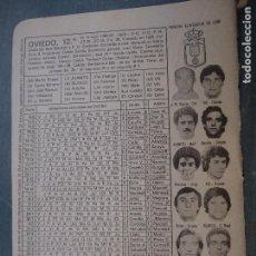 Coleccionismo deportivo: FUTBOL INFORMACION DEPORTIVA - CLUB EQUIPO PLANTILLA LIGA JUGADORES - OVIEDO. Lote 69069157