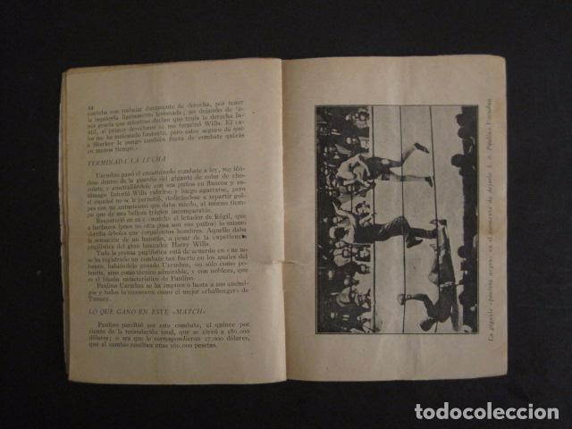 Coleccionismo deportivo: BOXEO -PAULINO UZCUDUN - DERROTADO POR UN ARBITRO - POR S. IBERO - VER FOTOS -(V-7800) - Foto 6 - 69078401