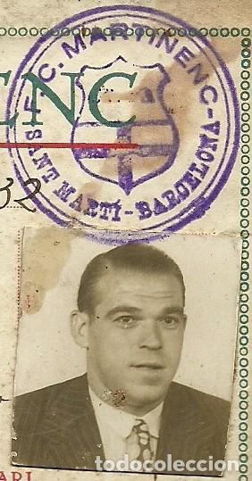 Coleccionismo deportivo: (F-161254)CARNET DE ENTRENADOR F.C.MARTINENC 1931-32,MANUEL CROS EX-JUGADOR C.D.EUROPA - Foto 2 - 69257609
