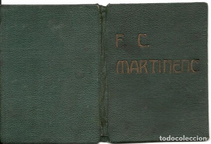 Coleccionismo deportivo: (F-161254)CARNET DE ENTRENADOR F.C.MARTINENC 1931-32,MANUEL CROS EX-JUGADOR C.D.EUROPA - Foto 4 - 69257609