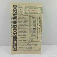 Coleccionismo deportivo: ANTIGUA QUINIELA JORNADA 7 OCTUBRE DE 1955. Lote 71242451