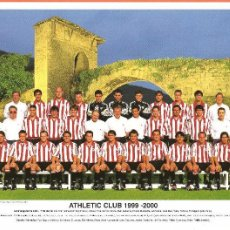 Coleccionismo deportivo: MINIPOSTER-TARJETA PLANTILLA ATHLETIC DE BILBAO TEMPORADA 1999-2000. Lote 72228543