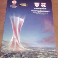 Collectionnisme sportif: PROGRAMA PARTIDO ATHLETIC BILBAO / OLIMPIQUE LYON. Lote 72408323