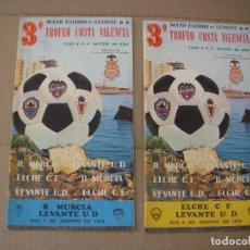 Coleccionismo deportivo: 3º TROFEO COSTA VALENCIA, PROGRAMA OFICIAL, 2 PROGRAMA OFICIAL AÑO 1974. Lote 73048335