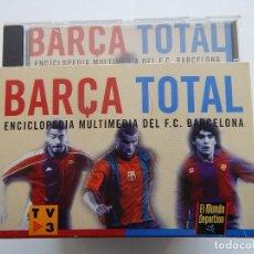 Coleccionismo deportivo: BARÇA TOTAL ENCICLOPEDIA MULTIMEDIA DEL F. C. BARCELONA - 10 CD. Lote 73885103
