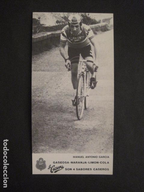 Coleccionismo deportivo: MANUEL ANTONIO GARCIA -CICLISMO - BICICLETAS - EQUIPO LA CASERA -VER FOTOS -(V-8555) - Foto 2 - 74457083