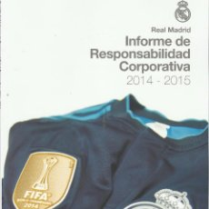 Coleccionismo deportivo: REAL MADRID INFORME ANUAL 2014-2015. Lote 75076031