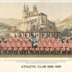 Coleccionismo deportivo: MINIPOSTER-TARJETA PLANTILLA ATHLETIC DE BILBAO TEMPORADA 1989-1990. Lote 75210535