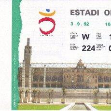 Coleccionismo deportivo: ENTRADA DE LA CEREMONIA DE APERTURA DE LOS IX JUEGOS PARALIMPICOS DE BARCELONA'92 (F.N.M.T.) . Lote 75241211