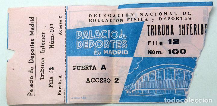 ENTRADA PALACIO DEPORTES MADRID PUBLICIDAD VESPA DELEGACIÓN NACIONAL EDUCACIÓN FÍSICA DEPORTES 1960 (Coleccionismo Deportivo - Documentos de Deportes - Otros)