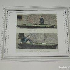Coleccionismo deportivo: (M) XILOGRAFIA JUEGO DEL BILLAR , NUEVE BOLAS Y DIEZ PALOS , AÑO 1887. Lote 79254341