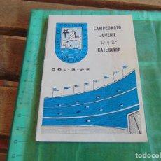 Coleccionismo deportivo: CALENDARIO CAMPEONATO JUVENIL PROMERA CATEGORIA 1964 1968 HOJAS ESCRITAS CON RESULTADOS. Lote 79992457