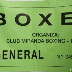 Coleccionismo deportivo: ENTRADA BOXEO. Lote 80036602