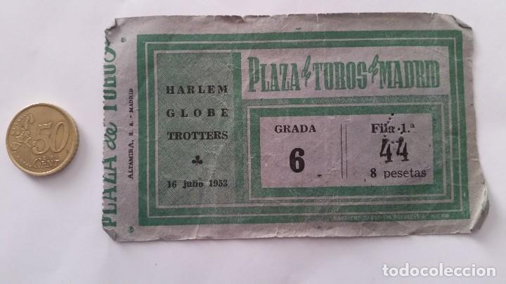 ENTRADA HARLEM GLOBE TROTTERS MADRID 1953 (Coleccionismo Deportivo - Documentos de Deportes - Otros)