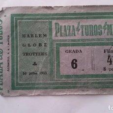 Coleccionismo deportivo: ENTRADA HARLEM GLOBE TROTTERS MADRID 1953. Lote 80286529