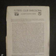 Coleccionismo deportivo: CANT DEL BARÇA - 75 ANIVERSARI - AÑO 1974 - VER FOTOS-(V-9993). Lote 80651094
