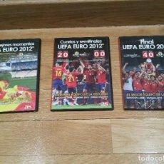 Coleccionismo deportivo: 3 DVD EUROCOPA FUTBOL 2012 ESPAÑA. FINAL, SEMIFINALES Y CUARTOS.. Y MEJORES MOMENTOS. SE VENDEN SUEL. Lote 80698326